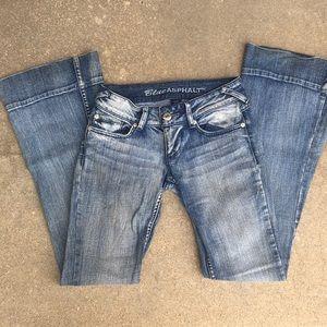 Blue Asphalt Flare Jeans EUC size 0